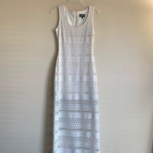 Guess ivory lace long dress